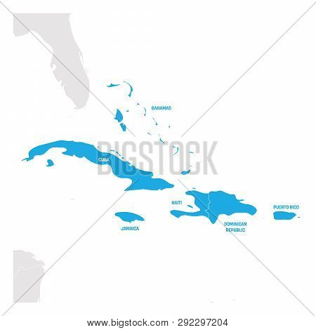 Caribbean Region. Map Vector & Photo (Free Trial) | Bigstock