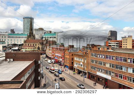 Birmingham, Uk - April 19, 2013: Urban Cityscape In Birmingham, Uk. Birmingham Is The Most Populous