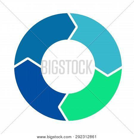 Cycle Loop Diagram. Life Cycle. Four Arrows Diagram. Vector Stock.
