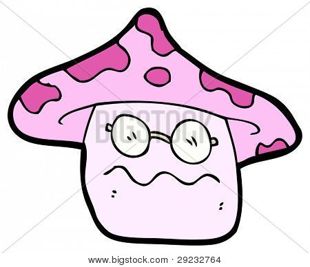 nauseous magic mushroom cartoon