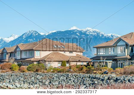 Luxury house at Spring in Vancouver, Canada.