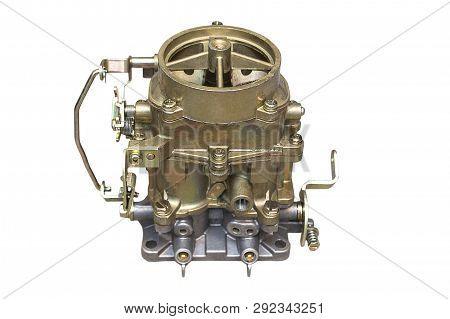 New Car Carburetor Isolated On White Background
