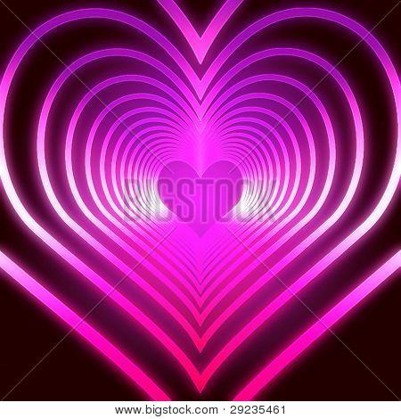 Shining Pink Hearts