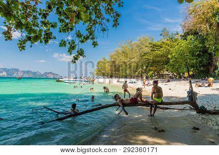 February 2019. Poda Island In Krabi Thailand. A View On Poda Islandin Thailand