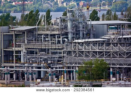 Voronezh Synthetic Rubber Plant, Chemical Production Of Thermoplastic. Columns Of Butadiene Cleaning