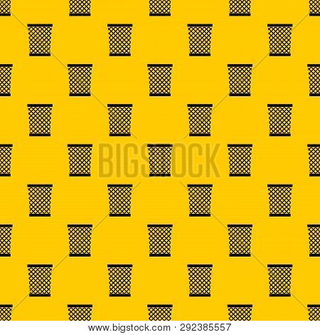 Wastepaper Basket Pattern Seamless Repeat Geometric Yellow For Any Design
