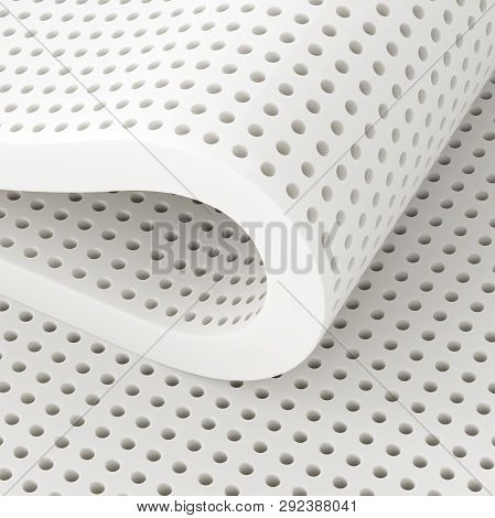 Natural Para Latex Rubber Material Sheets. 3d Illustration