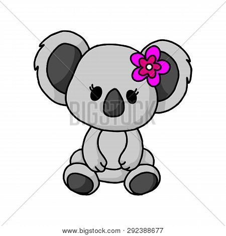 Koala Icon In Trendy Design Style. Koala Icon Isolated On White Background. Koala Vector Icon Simple