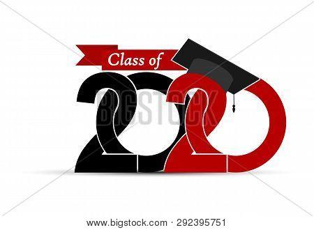 Class And Graduate 2020 With A Graduate Cap.