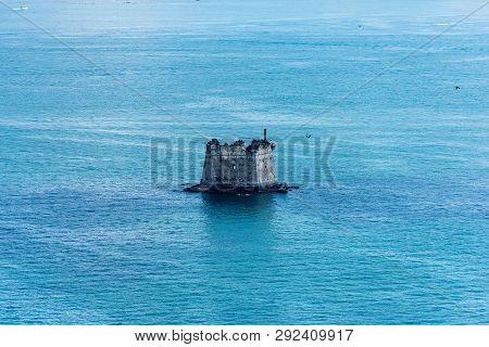 The Scola Tower (torre Scola) Xvii Century In The Gulf Of La Spezia Near Porto Venere Or Portovenere