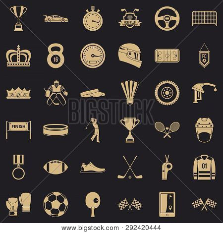 Award icons set. Simple style of 36 award icons for web for any design poster