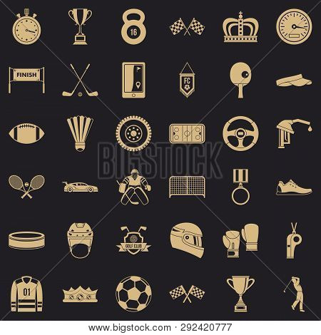Sport award icons set. Simple style of 36 sport award icons for web for any design poster