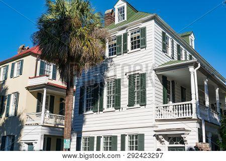 Historic Homes In Downtown Charleston, South Carolina