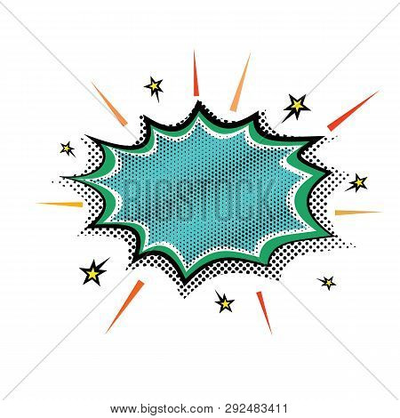 Pop-art Steam Explosion Boom Speech Cloud Bubble. Vector Illustration Retro Comic Design Speech Bubb