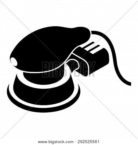 Circular sheet sander icon. Simple illustration of circular sheet sander icon for web design isolated on white background poster