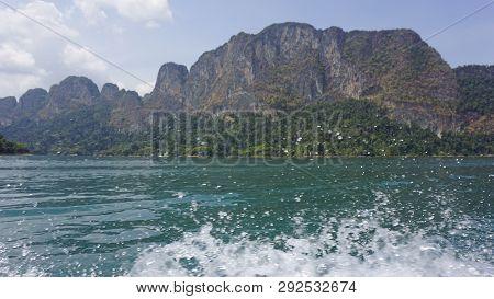 Tropical Landscape On Chiao Lan Lake In Khao Sok