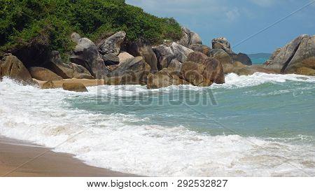 Tropical Coral Beach On Koh Samui
