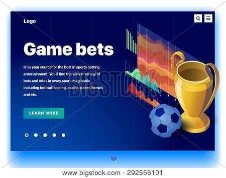Website Providing The Service Of Game Bets. Concept Of A Landing Page For Game Bets. Game Bets In Sp