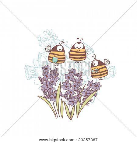 bees and hyacinth