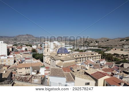 Picture Taken From The Castle Of The Municipality Of Petrer In The Province Of Alicante, Spain With