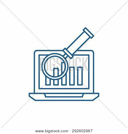 Electronic Accounting System Line Icon Concept. Electronic Accounting System Flat  Vector Symbol, Si