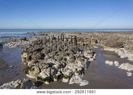 View Of The Beach Of Ault, Somme, Hauts-de-france, France