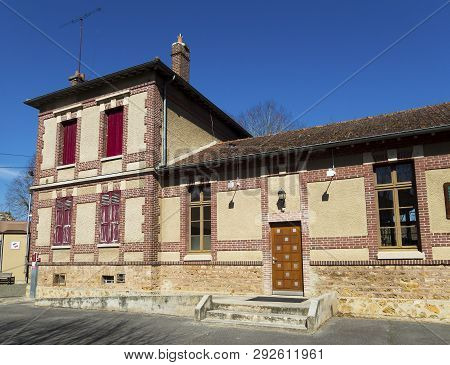 Library Of Crecy La Chapelle, Seine-et-marne, Ile-de-france, France