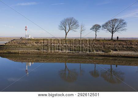 View Of The Somme River, Saint-valery-sur-somme, Somme, Hauts-de-france, France