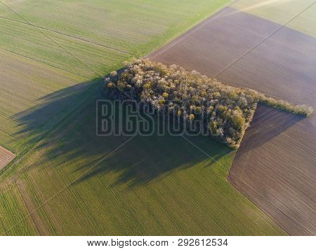 View Of The Field In Chalo-saint-mars, Essonne, Ile-de-france, France