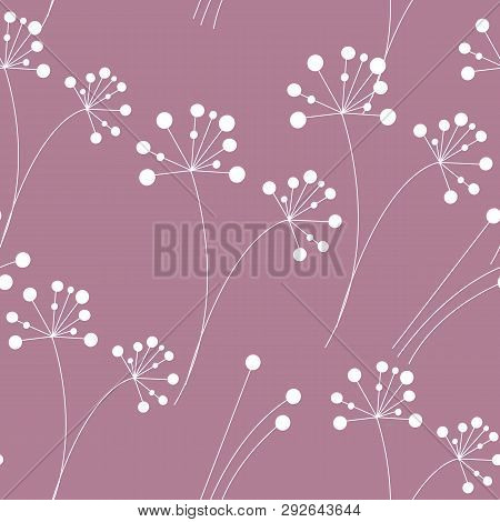 Modern Seamless Pattern With Berries. Endless Background. Vector Illustration.