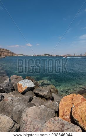 Cartagena bay, Cartagena city is in the background, Murcia, Spain. poster