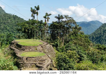 Lost City, Ciudad Perdida, Archeological Ancient Site In The Sierra Nevada Mountains Of Colombia