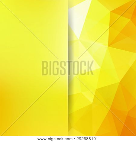 Yellow Polygonal Vector Background. Blur Background. Can Be Used In Cover Design, Book Design, Websi