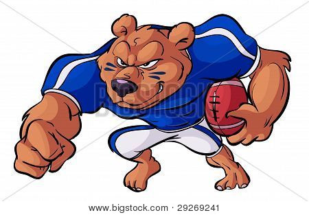 Football Bear In Action