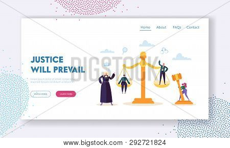 Justice Will Prevail Landing Page. Judge Hears Witness And Evidence Presented By Barrister Of Case,
