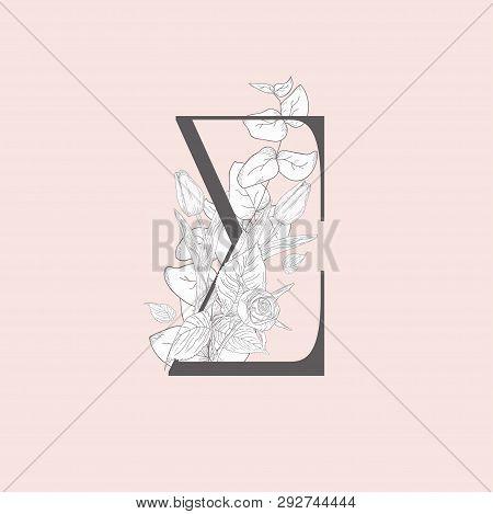 Vector Floral Elegant Ampersand Monogram And Logo