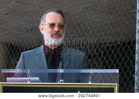 LOS ANGELES - MAR 29:  Tom Hanks at the Rita Wilson Star Ceremony on the Hollywood Walk of Fame on March 29, 2019 in Los Angeles, CA