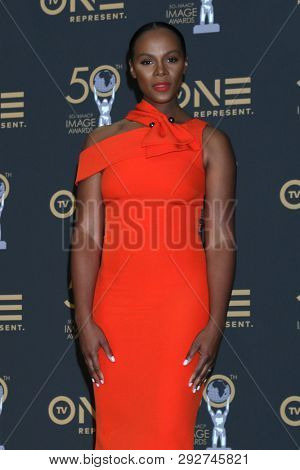 LOS ANGELES - MAR 30:  Tika Sumpter at the 50th NAACP Image Awards - Press Room at the Dolby Theater on March 30, 2019 in Los Angeles, CA