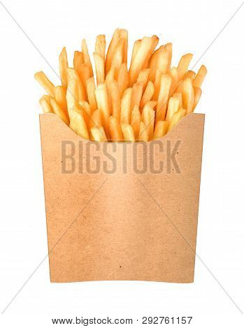 French Fries Flies Into A Paper Cup