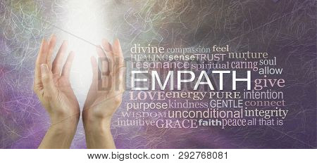 The Empath Is Non Judgemental - Pair Of Female Hands Sending Out Pure White Light Healing Energy Bes