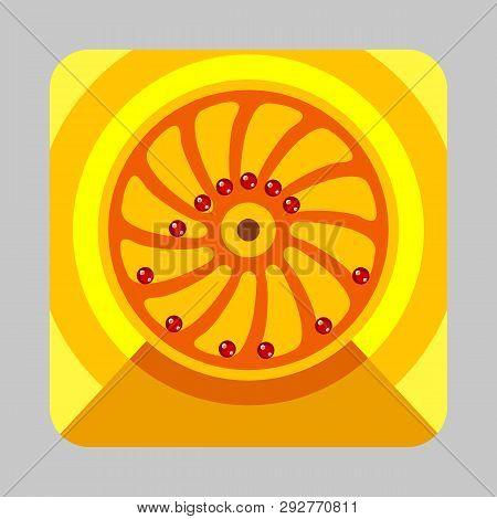 Gravitation Engine Concept Background. Cartoon Illustration Of Gravitation Engine Concept Background