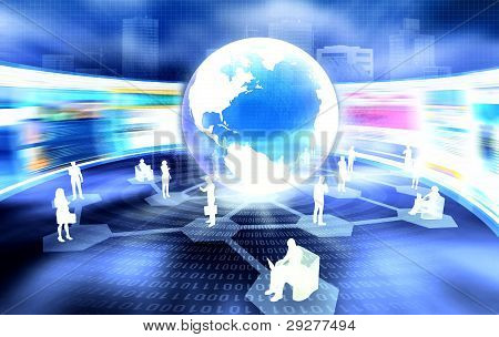 Business and Social Networking Concept