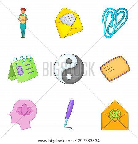 Pity Icons Set. Cartoon Set Of 9 Pity Icons For Web Isolated On White Background