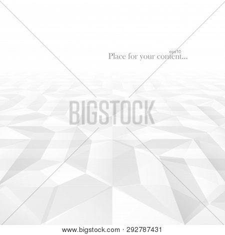 Abstract Vector Business Background With Perspective. White And Gray Geometric Shapes - Tile Texture