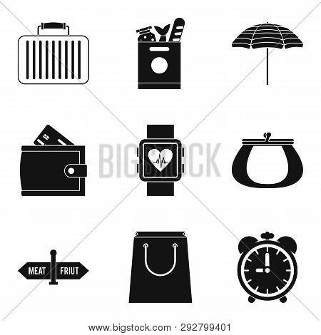 Paraphernalia Icons Set. Simple Set Of 9 Paraphernalia Icons For Web Isolated On White Background