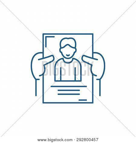 Personnel Management Line Icon Concept. Personnel Management Flat  Vector Symbol, Sign, Outline Illu
