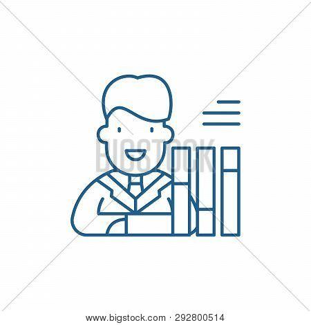 Personnel Scorecard Line Icon Concept. Personnel Scorecard Flat  Vector Symbol, Sign, Outline Illust