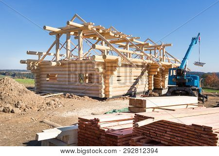 Building  Wooden House,  Building Building Symbol, Construction Of Wooden Timbers, Construction Of W