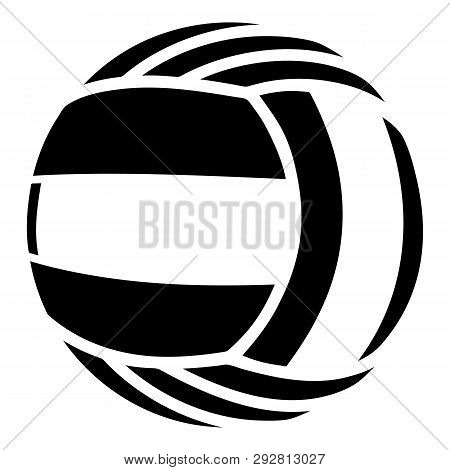 Volleyball Icon. Simple Illustration Of Volleyball Icon For Web