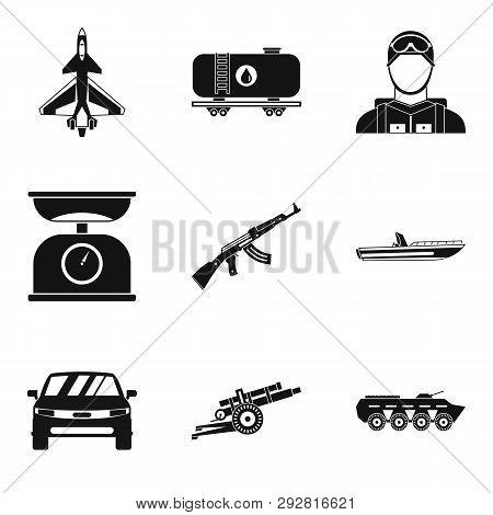 Struggle Icons Set. Simple Set Of 9 Struggle Icons For Web Isolated On White Background